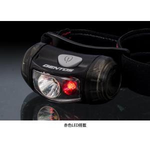 GENTOS(ジェントス) LED ヘッドライト 小型 明るさ95ルーメン/実用点灯7.5時間/赤色サブLED 単3形電池1本使用 CP-0|r-ainet