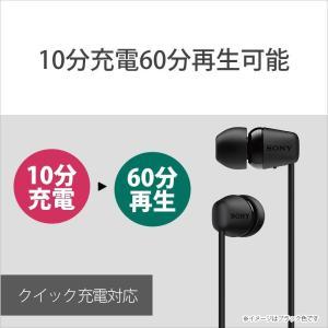 ソニー SONY ワイヤレスイヤホン WI-C200 : Bluetooth対応/最大15時間連続再生/マイク付き 2019年モデル ブラッ|r-ainet