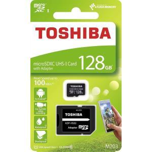 128GB microSDXCカード マイクロSD TOSHIBA 東芝 CLASS10 UHS-I R:100MB/s SDアダプター付 r-ainet
