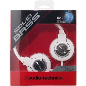 audio-technica SOLID BASS 密閉型オンイヤーヘッドホン ポータブル ホワイト...