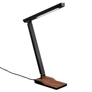 YAZAWA(ヤザワコーポレーション) 5W 3段階調光付 木目調 LEDデスクスタンドライト ダークウッド・SDLE05N14DW r-ainet