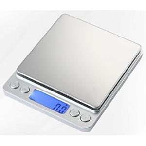 小型 精密 デジタルスケール 電子はかり 0.1g単位 3kgまで計量 日本語取扱説明書付き 計量トレー2枚付き|r-ainet
