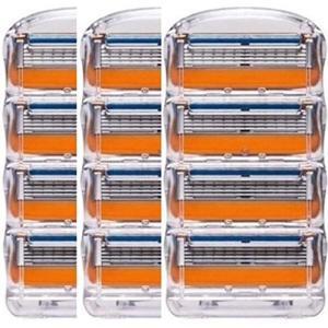 ジレット フュージョン用 替刃 互換品 3セット 12個 髭剃り Gillette Fusion プログライド パワー 替え刃 オレンジ r-ainet