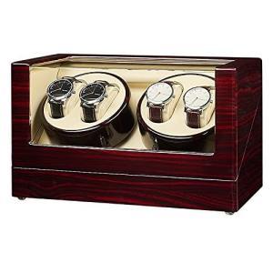 JQUEEN ワインディングマシーン4本巻き ウォッチワインダー 腕時計自動巻き上げ機 男女の時計に適しています木製 静音 2021年最新版 r-ainet