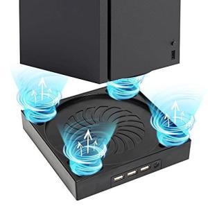 Xbox Series X コンソール用 USB 冷却ファン、xbox series x ファン, デュアル ファンと外部 USB ポートを r-ainet