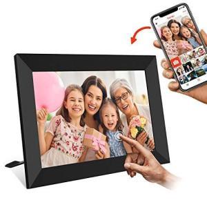 WiFi デジタルフォトフレーム 8インチ - UCMDA IPS広角視野/タッチスクリーン/16GB/写真動画再生 スライドショー/無料f r-ainet