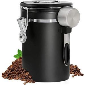 コーヒー キャニスター タイムロッキングコンテナ 304ステンレス コーヒー豆保存容器 1800ml 真空密封 コーヒー豆 茶筒 お菓子 糖|r-ainet