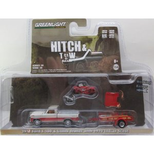 1/64 1972 Ford F-100 & Utility Trailer with 1920 I...