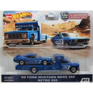 1/64 '69 Ford Mustang Boss 302 Retro Rig ホットウィール H...