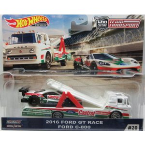 1/64 2016 Ford GT Race Ford C-800 ホットウィール Hot Whee...