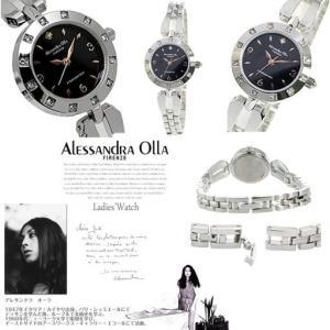 レディース 腕時計 アレサンドラオーラ Alessandra Olla シルバー ブラック 防水 天...