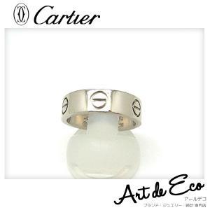 カルティエ Cartier リング 指輪 K18WG ラブリ...