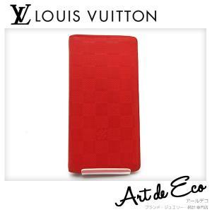 ルイヴィトン  LOUIS VUITTON 長財布 ダミエ アンフィニ ポルトフォイユ ブラザ N63011 二つ折り ブランド メンズ 人気 おすすめ 中古 美品 r-deco-online