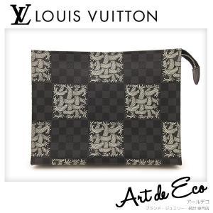 ルイヴィトン  LOUIS VUITTON クラッチバッグ クリストファー ネメス ポシェット ヴォワヤージュ ダミエグラフィット N61234 ブランド メンズ おすすめ 美品 r-deco-online