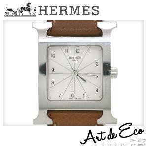エルメス HERMES 腕時計 Hウォッチ レディースクォーツ □Q刻印 ブランド時計 レディース 人気 定番 おすすめ 中古 美品|r-deco-online