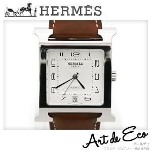 エルメス HERMES 腕時計 Hウォッチ メンズ AT HH2.810 革ベルト R刻印 ブランド時計 メンズ 人気 定番 おすすめ 中古 美品|r-deco-online