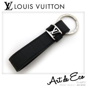 ルイヴィトン  LOUIS VUITTON キーホルダー キーリング LV ドラゴンヌ ダミエアンフィニ M62710 ブランド メンズ 人気 おすすめ 中古 美品 r-deco-online