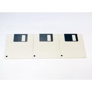 テイジン 2DD 3.5インチ マイクロフロッピーディスク 3枚組みセット 白/国産品【新品】
