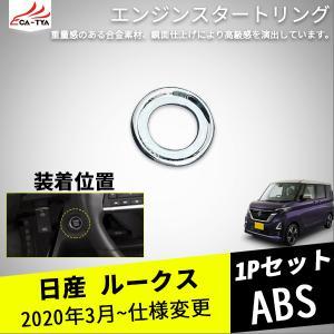 RS005 日産新型ルークス スタートスイッチカバー スタータースイッチ リング インテリア ドレスアップ アクセサリー カスタム パーツ 1P r-high
