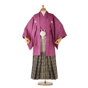 袴レンタル 着物 男 成人式 卒業式 紫系 IAF0006