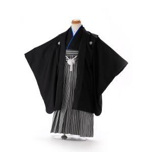 七五三レンタル 3歳 男の子 袴 着物 黒系 IAO3001|r-kimonoshop
