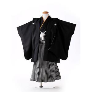 七五三レンタル 3歳 男の子 袴 着物 黒系 IAO3002|r-kimonoshop