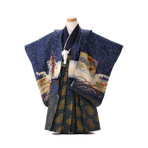 七五三レンタル 3歳 男の子 袴 着物 青系 IAO3010|r-kimonoshop