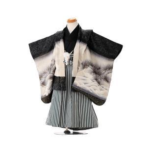 七五三レンタル 3歳 男の子 袴 着物 黒系 IAO3011|r-kimonoshop