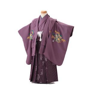 七五三レンタル 3歳 男の子 袴 着物 紫系 IAO3025|r-kimonoshop