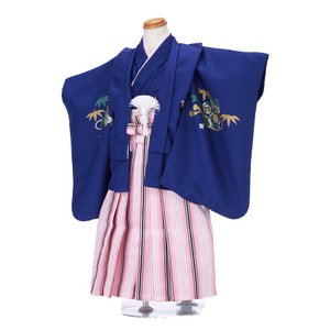 七五三レンタル 3歳 男の子 袴 着物 青系 IAO3026|r-kimonoshop