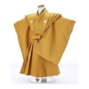 七五三レンタル 3歳 男の子 袴 着物 金系 IAO3028|r-kimonoshop