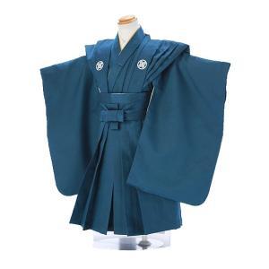 七五三レンタル 3歳 男の子 袴 着物 青系 IAO3030|r-kimonoshop