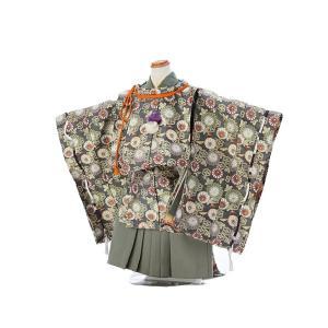 水干レンタル 七五三 3歳 男の子 袴 着物 緑系 IAO3031|r-kimonoshop