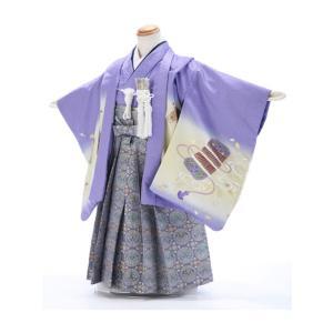 七五三レンタル 3歳 男の子 袴 着物 紫系 IAO3050|r-kimonoshop