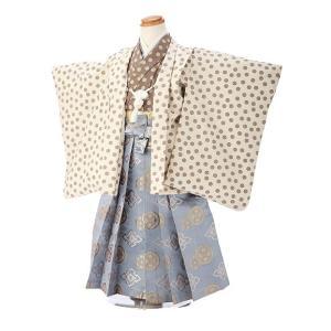 七五三レンタル 3歳 男の子 袴 着物 白系 IAO3055|r-kimonoshop