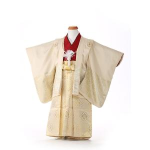七五三レンタル 3歳 男の子 袴 着物 白系 IAO3057|r-kimonoshop