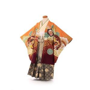 七五三レンタル 3歳 男の子 袴 着物 オレンジ系 IAO3070|r-kimonoshop