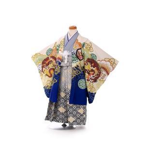七五三レンタル 3歳 男の子 袴 着物 青系 IAO3071|r-kimonoshop