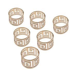 6個入り ナプキンリング ナプキンホルダー 結婚式 披露宴 バックル テーブル装飾 ナプキンティッシ...