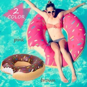 浮き輪 ドーナツ ピンク チョコ うきわ 大人用 ビーチ 120cm 可愛い 大きなドーナッツ プール 海 レジャー|r-lotus