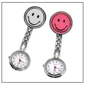 ナースウォッチ 看護師 ナース スマイル クリップ式 懐中時計 ウォッチ 時計 ナース時計 レディース  逆さ時計|r-lotus