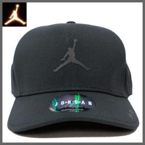 ジョーダン キャップ NIKE JORDAN (ナイキ ジョーダン) ユニセックス キャップ ジャンプマン ロゴ プリント キャップ 帽子 (BLACK) 801767-010