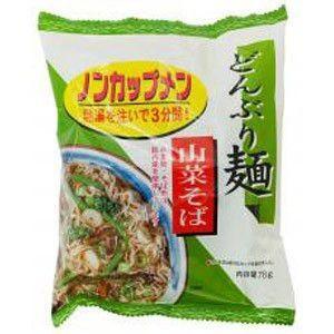 トーエー どんぶり麺・山菜そば 78g 【4個入】 raamuufoods-direct