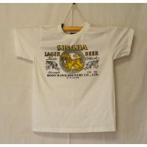 【タイ・アジアン雑貨】Tシャツ(M)/ビール/ロゴ/ライオン