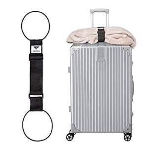TABITORA(タビトラ) バッグとめるベルト 旅行用品/スーツケースベルト ブラック 57~75...