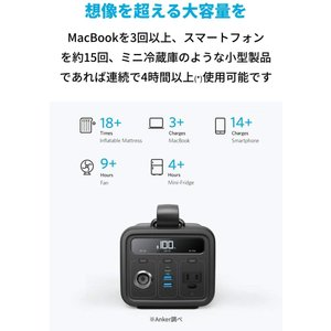 Anker PowerHouse 200 (213Wh / 57600mAh ポータブル電源) PS...