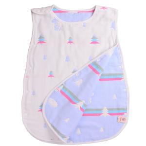 mikistory ふわふわ 赤ちゃん 新生児綿100% 出産祝い 6層寝袋幼児春夏 プリント赤ちゃん 寝袋 3?6歳頃Pine Lの画像