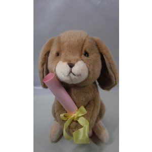 うさぎぬいぐるみ・茶色【31cm】ロップイヤー、やさしいぬいぐるみ/大人気の日本製オリジナルロップイヤーがあなただけのオリジナルメッセージをお届けします|rabbittail-net