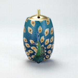 4号香炉 孔雀図 |米寿 プレゼント 金婚式 陶器 還暦祝い 退職祝 結婚祝い 贈り物 ペア 夫婦 誕生日 プレゼント 古希 喜寿 祝い||rachael