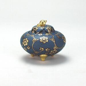 3.5号香炉 渦打青粒宝相華 |米寿 プレゼント 金婚式 陶器 還暦祝い 退職祝 結婚祝い 贈り物 ペア 夫婦 誕生日 プレゼント 古希 喜寿 祝い||rachael